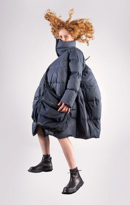 Rundholz Black Label onesize down puffer with high collar.