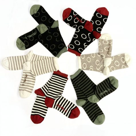 Mama B cotton and cashmere blend crew socks. Now in our online store!