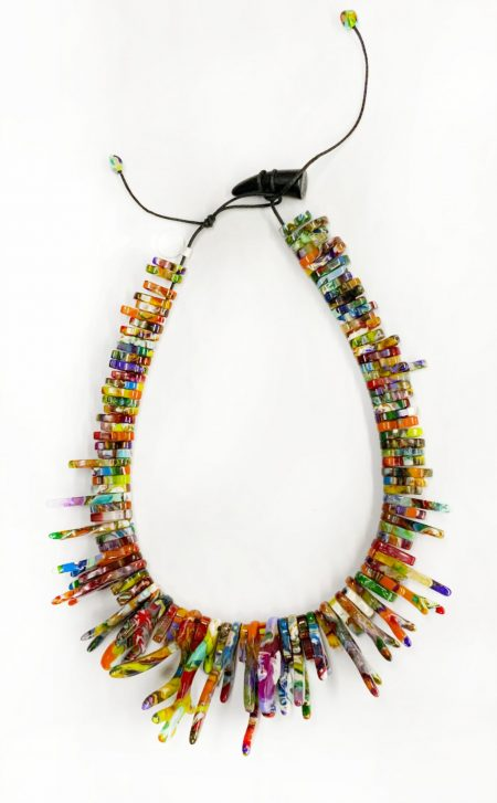 Sobral multicolour organic fringe necklace.