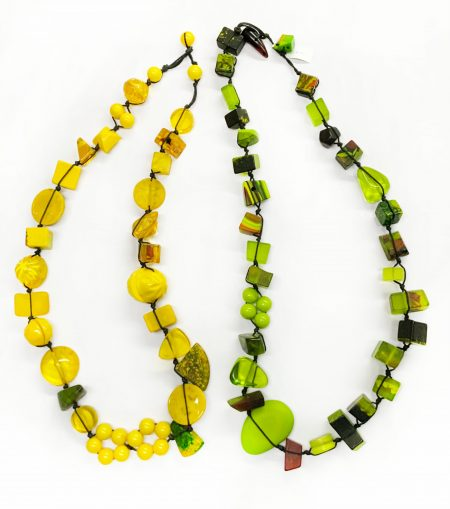 Sobral classic resin stones necklaces in Lemon and Lime.