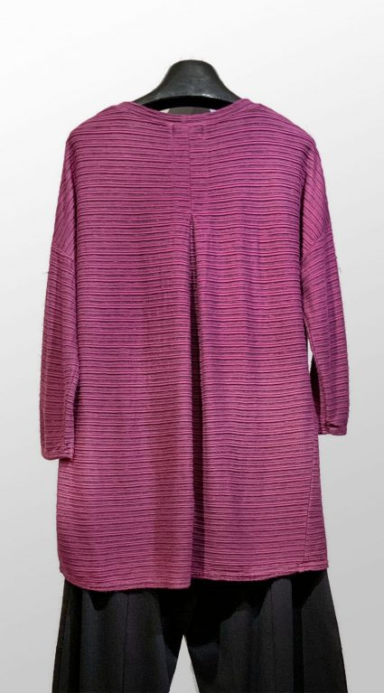 Motion striped knit tunic tee, reverse.