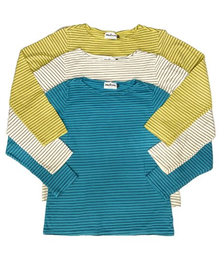 Motion cotton-blend long-sleeve striped tees.