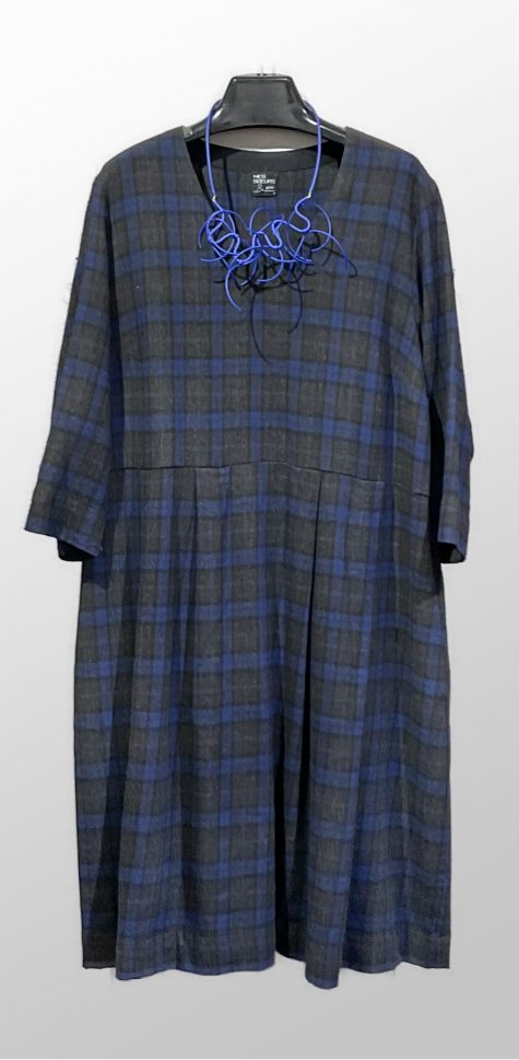 Mes Soeurs et Moi tartan shift dress with a pleated skirt.