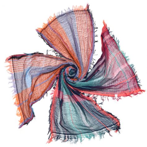 Colourful, small Tamaki Niime 100% cotton scarves.