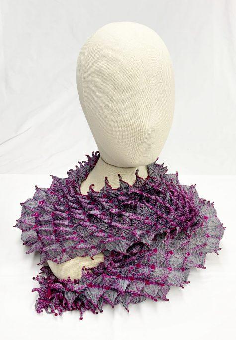 Bunzaburo 100% silk hand-dyed shibori scarf.