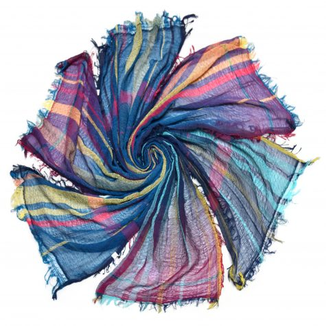 Tamaki Niime small 100% cotton scarves. One-of-a-kind. Made in Japan.