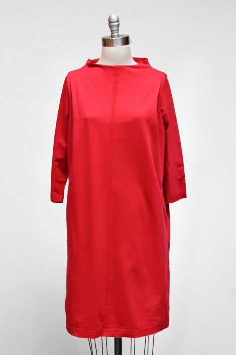 Elemente Clemente scarlet french terry dress.