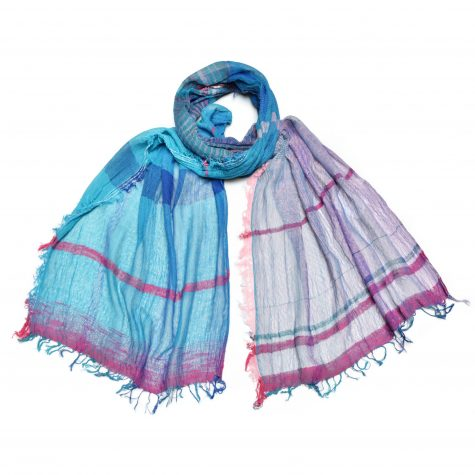 Tamaki Niime 100% cotton medium shawl.