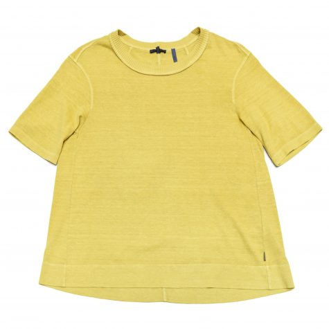 Oska garment-dyed cotton-hemp knit tee.