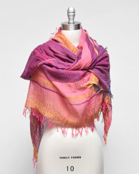 Tamaki Niime big 100% cotton shawl. One-of-a-kind. Made in Japan.