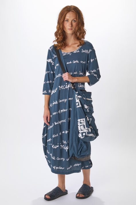 Rundholz Black Label super soft printed cotton bubble dress.