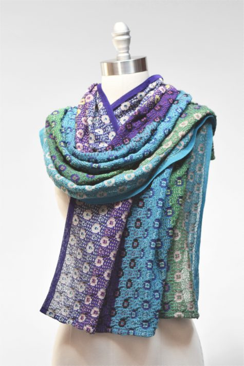 Catherine Andre knit millefiori scarf.