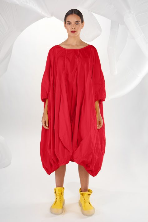 Rundholz Dip onesize dress with a bubbled hem.