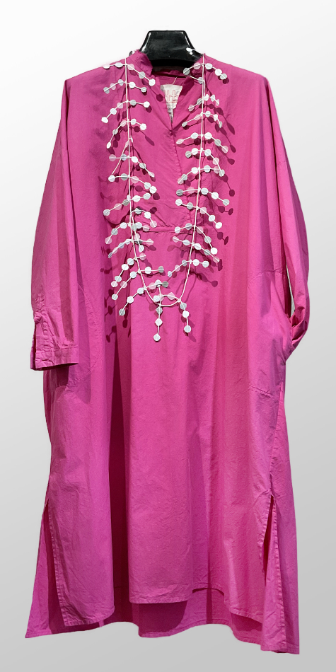 Hannoh Wessel magenta cotton shirtdress.