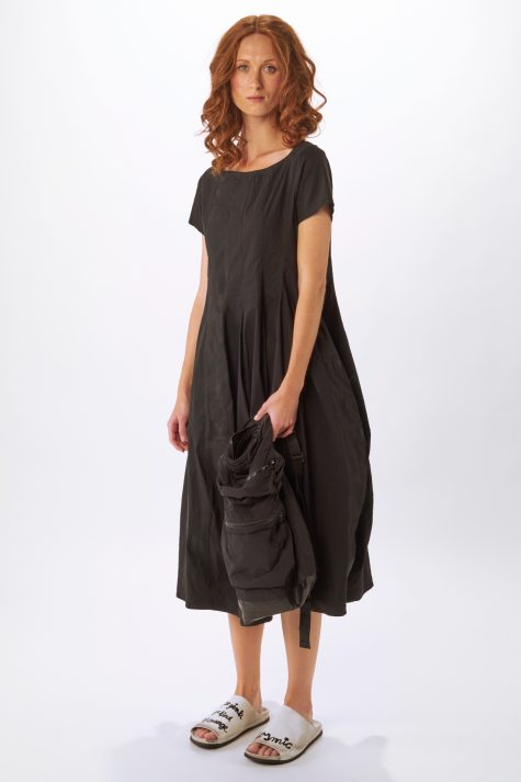 Rundholz Black Label short sleeve bubble dress in technical stretch fabric.
