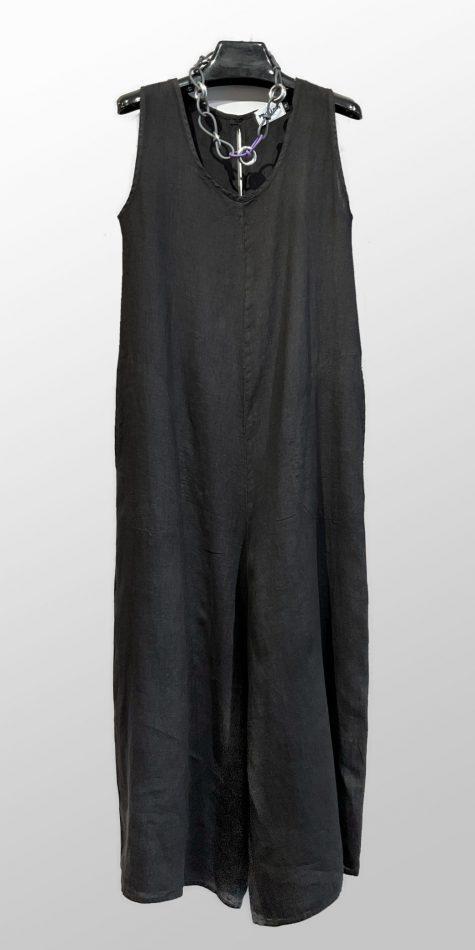 Motion 100% linen wide-leg jumpsuit.