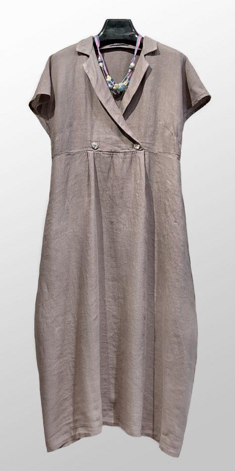 Neirami collared linen dress.