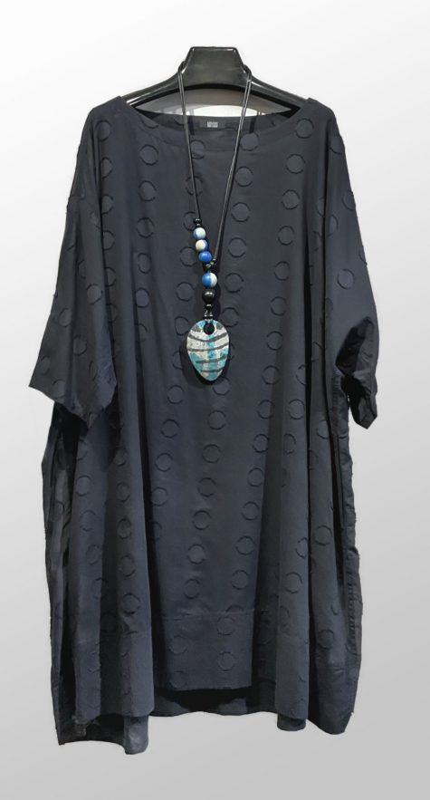 Moyuru dotted cotton lightweight caftan.