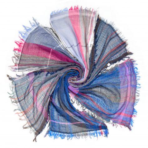 Assorted small Tamaki Niime 100% cotton gauze scarves.