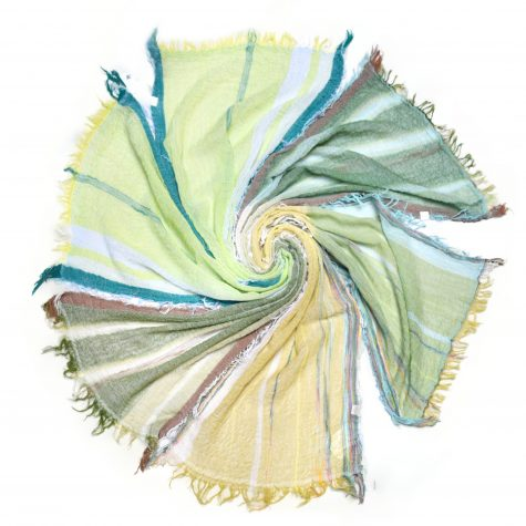 Assorted small Tamaki Niime 1 00% cotton gauze scarves.