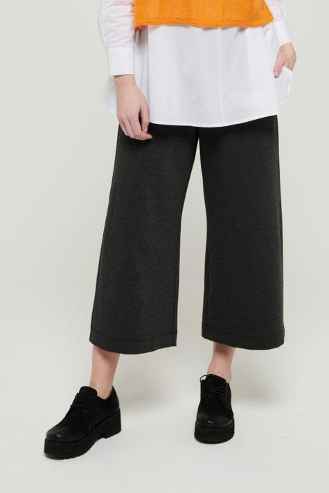Mes Soeurs et Moi wide-leg cropped pants in charcoal grey.