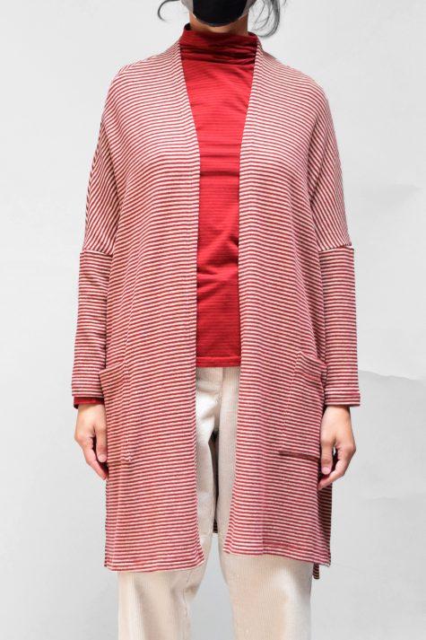 Mama B cozy knit onesize cardigan, over a Mama B cotton knit turtleneck.