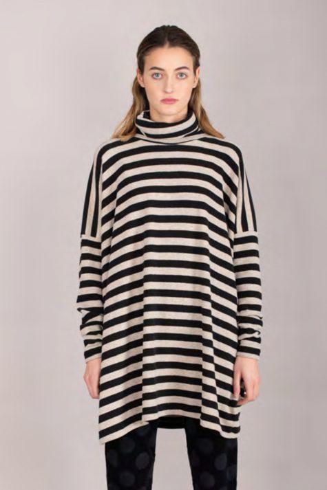 Mama B striped cozy turtleneck tunic.