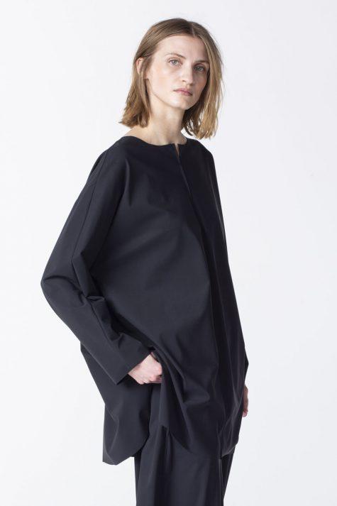 Oska technical knit relaxed blouse.