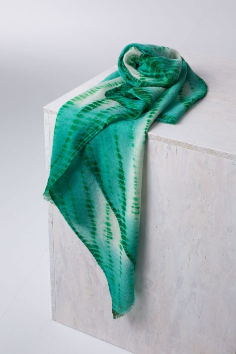 Ischiko by Oska super light and hand-dyed wool shawl.
