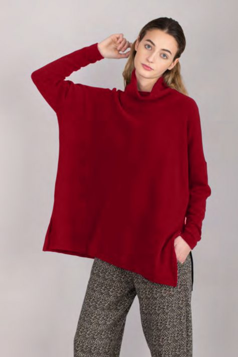Mama B cozy knit pullover with a big ribbed turtleneck.
