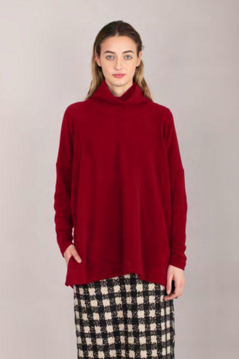 Mama B cozy knit turtleneck with rib knit collar.