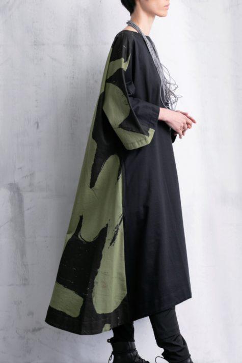 Moyuru A-line caftan dress with full sleeves.