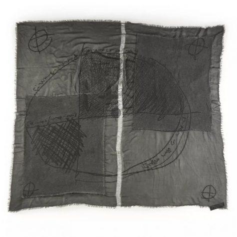 Rundholz Black Label patchwork gauze scarf.